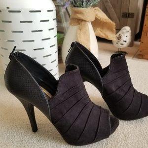 Fergalicious Peep Toe Booties  Size 7 1/2